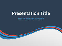 Blue And Orange Powerpoint Template Blue Orange Wave Powerpoint Template In 2019 Powerpoint