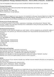 Sample Resume For Occupational Therapist Best Of Occupational Therapy Assistant Sample Resume Shalomhouseus