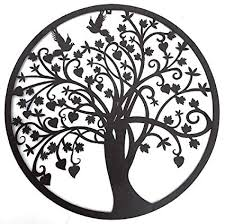 white metal tree of life wall art