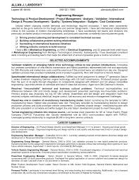 Excellent Engineering Management Resume Example With Career