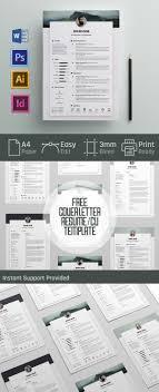 20 Free Cv Resume Templates 2017 Freebies Graphic Design