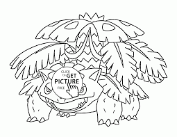 Small Picture Venusaur Mega Pokemon coloring pages for kids pokemon characters