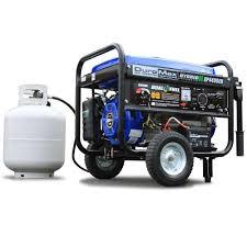 duromax watt hybrid dual fuel propane gas powered electric 4 400 watt hybrid dual fuel propane gas powered electric start portable generator wheel