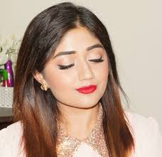 easy red lip party makeup