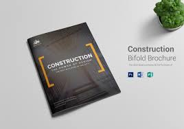 Brochure Templates For It Company Construction Company Brochure Template