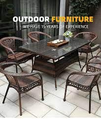 plastic wood garden sofa sets