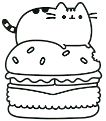 Coloring Pages Pusheen Cat 7 7818