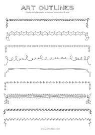 set of borders art outlines full page 9 original by artoutlines 12 95