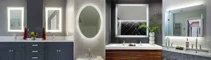 mirror with integrated lighting. SLIDER-2 Mirror With Integrated Lighting