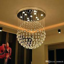 led chandelier lights. Chandelier Led Lights Light Chandeliers New Modern Ball Crystal Foyer