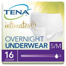 Tena Incontinence Underwear Overnight Medium 16 Ct