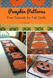 19 Pumpkin Patterns: Free Tutorials for Fall Quilts | FaveQuilts.com & 19 Pumpkin Patterns Free Tutorials for Fall Quilts Adamdwight.com
