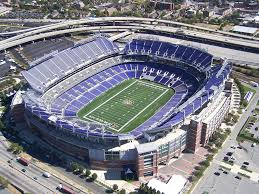 aerial of m t bank stadium home of the baltimore ravens