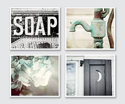 bathroom decor set of 4 photographs discount rustic bathroom wall art in aqua black on high end bathroom wall art with amazon bathroom decor set of 4 photographs discount rustic