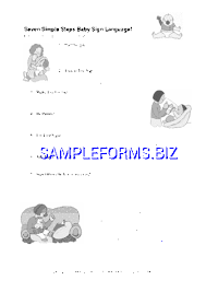 Baby Sign Language Chart Free Baby Sign Language Chart 2 Pdf Free 6 Pages