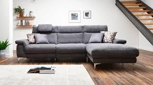 Ecksofa Camus Sofa Wohnlandschaft Polstermöbel In Grau 283x164 Cm