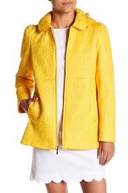 image of kate spade new york daisy quilted clutch hooded jacket