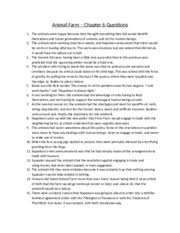 animal farm chapter questions vocabulary animal farm 2 pages animal farm chapter 6 questions