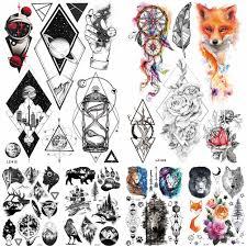 6471 руб 10 скидкачерный Boa тотем змея водостойкая временная татуировка наклейки