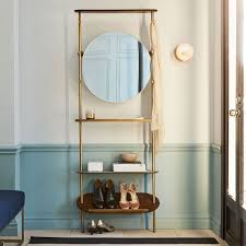 Image Shelf West Elm Modern Entryway Mirror Coat Rack West Elm