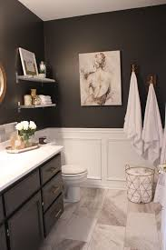 wall decor bathroom simple home elegant guest washroom