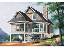 Level Basement Floor Mountain House Plans With Walkout Basement Walkout Floor Plans