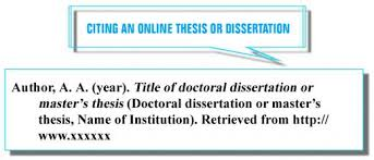 Apa Format For Thesis Writing How To Cite A Thesis In Apa Format How To Cite A