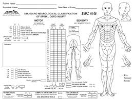 Body Injury Chart Asia Score And Spinal Injury Classification Spinal Cord