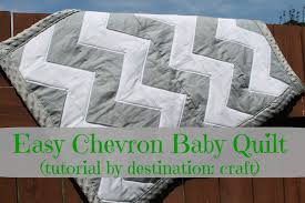 Destination: Craft: Easy Chevron Baby Quilt & ... of weeks and so I made her a baby quilt for when her little guy decides  to make his appearance (she's pretty pumped to be done with this pregnancy!) Adamdwight.com