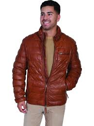 scully leather cognac soft lamb mens leatherwear jacket scully