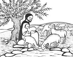 Jezus Goede Herder Kleurplaat Kinderen Olvternood Onze Lieve Vrouw
