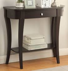 furniture likable com convenience concepts french country entryway table half moon entry cappuccino finish console