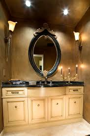interior bathroom vanity lighting ideas. Interior. Bathroom Design Ideas Using Round Bell Tulip White Glass Bronze Vanity Lights Including Interior Lighting