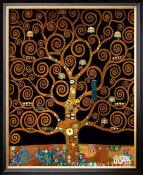 under the tree of life gustav klimt gold paintings living room decor handmade high quality in painting calligraphy from home garden on aliexpress com