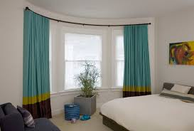 installing a bay window curtain rods