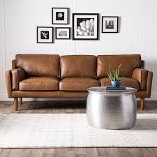 Carson Carrington Beatnik Oxford Leather Tan Sofa - Free Shipping Today -  Overstock.com - 15465010