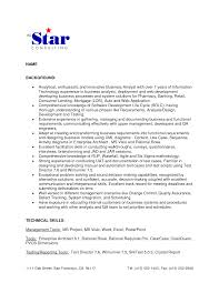 ... cover letter Best Business Analyst Resume Samples For Job Seekers  Simple All Star Consulting And Web