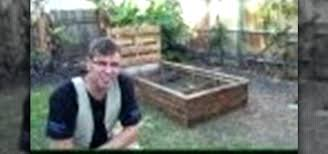 how to build a raised garden bed out of old pallets