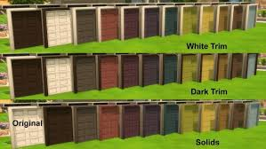 garage door recolors by grouchy old sims at simswork