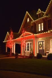 Red Lights White House Silver Bells Christmas Light Installation Professionals