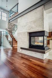 sublime fire place decorating ideas for glamorous family room contemporary design ideas with 3 sided fireplace