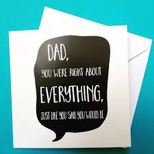 Birthday On Day Card Dad Birthday Card Dad S Always Right Birthday Folksy