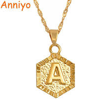 details about a z letters gold color charm pendant necklaces for women girls english initial a