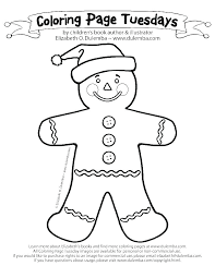 Coloring Pages Of Gingerbread Man Blank Chronicles Network