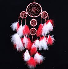 Dream Catcher Group Home Beautiful Dream Catcher hand woven Dreamcatcher with red White 43