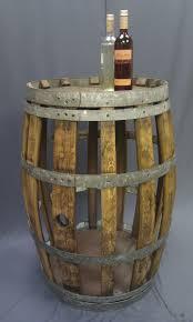 Rustic 'see through' display wine barrel/table