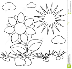 Sun coloring page for kids. New Coloring Sun And Flower Coloring Pages Kids Coloring