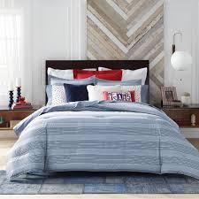 tommy hilfiger tommy hilfiger williams stripe comforter set blue king