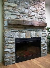 stone surround fireplace