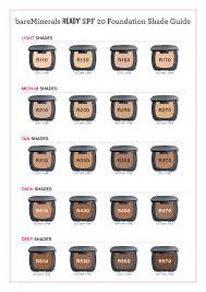 Bare Minerals Matte Foundation Color Chart Bareminerals Find Your Perfect Foundation Feelunique Com